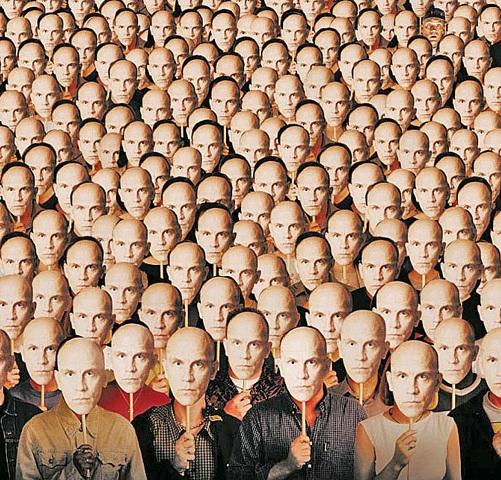 """- particolare del poster di """"Being John Malkovich"""" -"""