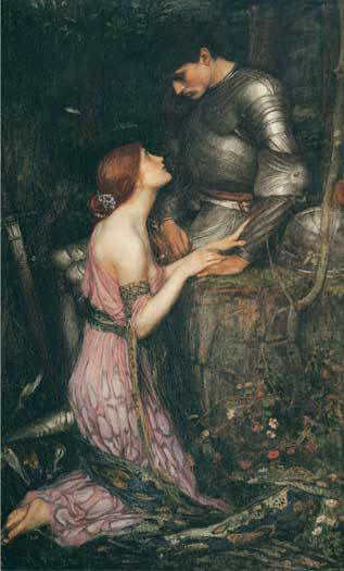 La Lamia e il Cavaliere - John William Waterhouse