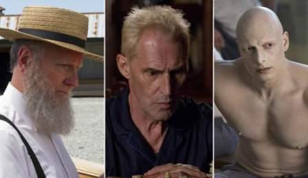 Da sinistra, il padre amish di Kai Proctor, il padre di Carrie, mafioso ucraino, e l'Albino, un sicario carcerato