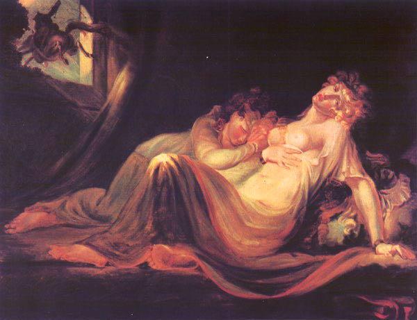 Fussli, L'Incubo abbandona il giaciglio di due figure dormienti
