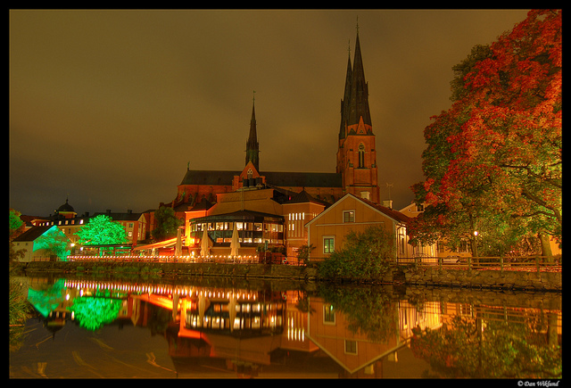 La notte autunnale a Uppsala