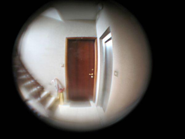 """Qualcuno bussa alla porta. Domandate """"Chi è?"""", ma non risponde nessuno. Perciò guardate attraverso lo spioncino. Vedete qualcuno, di spalle, intento a usare lo spioncino della porta di fronte. Quando si volta, scoprite che è identico a voi."""""""