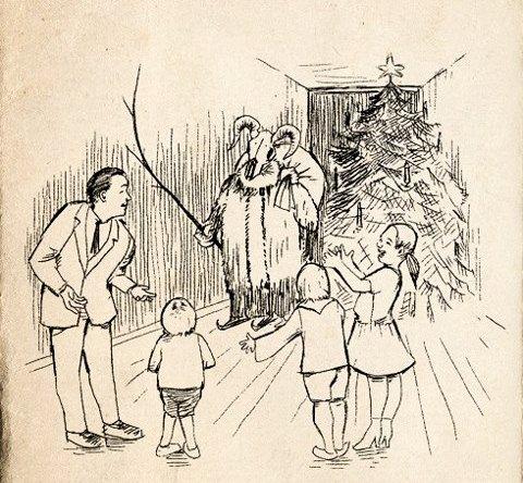 Babbo Natale con la tradizionale maschera caprina