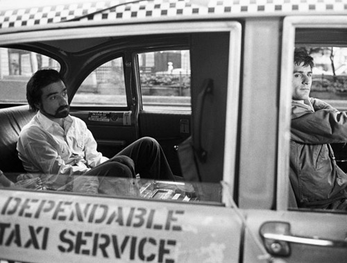 Martin-Scorsese-and-Robert-De-Niro-on-the-set-of-Taxi-Driver