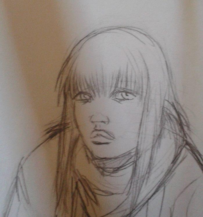 Jill (protagonista di una delle serie ambientate in Darkest), studio del volto, a cura di Max Novelli