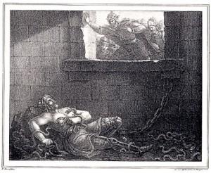 Ragnar gettato nella fossa dei serpenti da Re Aelle
