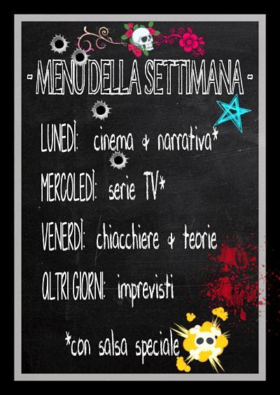 menu della settimana