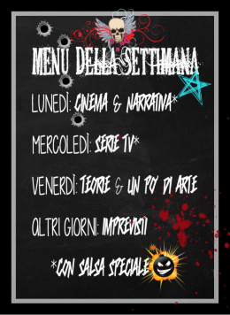 menu estivo