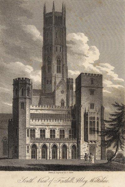 Fonthill Abbey, la casa di William Beckford, autore di Vathek. La costruzione non sopravvisse al suo creatore.