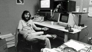 Warshaw nel suo studio alla Atari, nei primi anni Ottanta