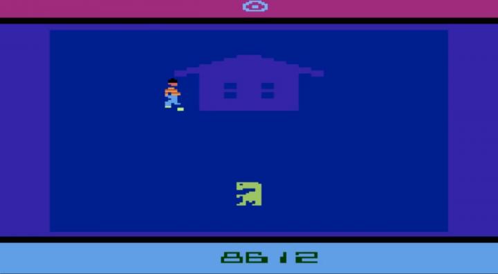 Una schermata del videogioco E.T. l'Extraterrestre
