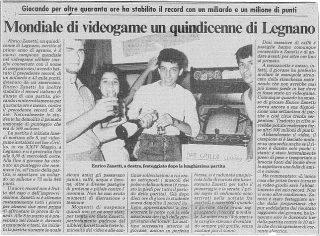 Zanetti, a Legnano, il giorno della vittoria.